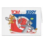 Estrellas de tenis de Tom y Jerry 4 Tarjeta De Felicitación