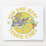 Estrellas de tenis de Tom y Jerry 5 Alfombrilla De Ratón