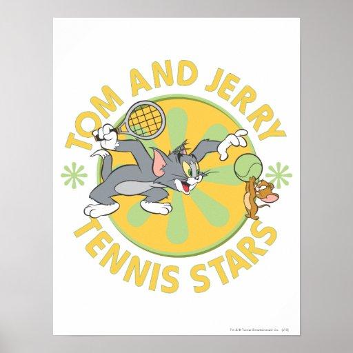 Estrellas de tenis de Tom y Jerry 5 Póster