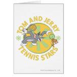 Estrellas de tenis de Tom y Jerry 5 Tarjeta De Felicitación