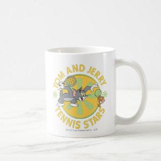 Estrellas de tenis de Tom y Jerry 5 Taza Básica Blanca
