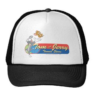 Estrellas de tenis de Tom y Jerry 6 Gorros Bordados