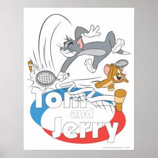 Estrellas de tenis de Tom y Jerry 7 Póster