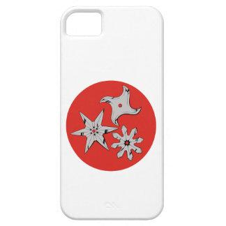 Estrellas de tiro Ninja shuriken iPhone 5 Carcasa