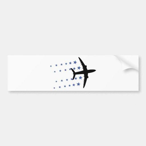 estrellas del aeroplano pegatina para auto