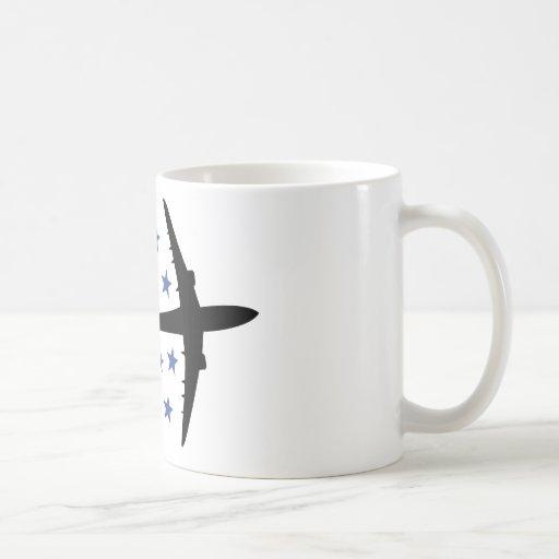 estrellas del aeroplano taza clásica