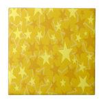 Estrellas del amarillo azulejos ceramicos