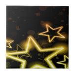 Estrellas del amarillo azulejos cerámicos
