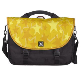 Estrellas del amarillo bolsas para portatil