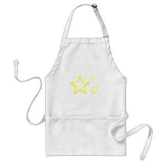 Estrellas del amarillo delantales