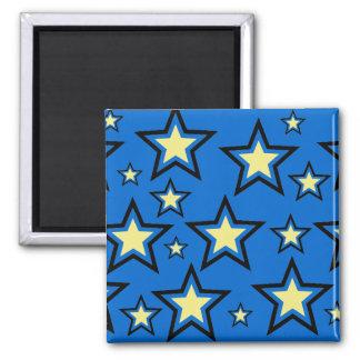 Estrellas del amarillo imán de frigorifico