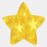Estrellas del amarillo colcomanias forma de estrellaes
