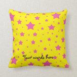 Estrellas del amarillo y del rosa almohadas