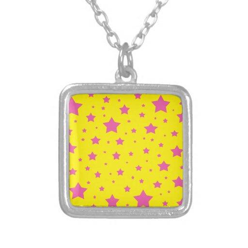 Estrellas del amarillo y del rosa joyeria personalizada