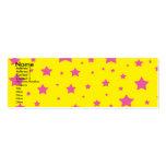 Estrellas del amarillo y del rosa plantillas de tarjeta de negocio