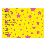 Estrellas del amarillo y del rosa tarjeta de negocio
