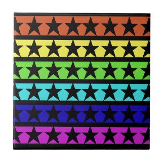 Estrellas del arco iris azulejo cerámica