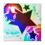 Estrellas del arco iris azulejos ceramicos