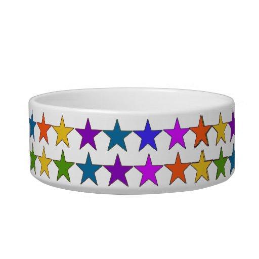 Estrellas del arco iris tazones para comida para gato