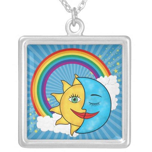 Estrellas del arco iris de la luna de Sun Pendientes Personalizados