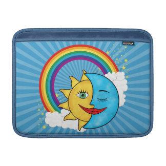 Estrellas del arco iris de la luna de Sun Fundas MacBook