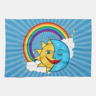 Estrellas del arco iris de la luna de Sun Toallas De Mano