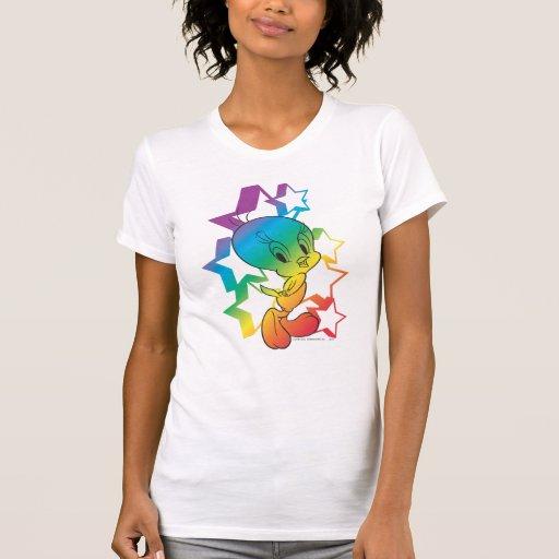 Estrellas del arco iris de Tweety Remeras