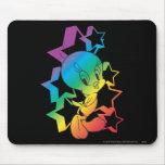 Estrellas del arco iris de Tweety Tapetes De Raton