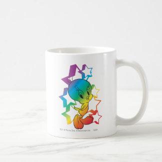 Estrellas del arco iris de Tweety Tazas De Café