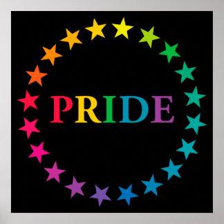 Estrellas del arco iris del orgullo gay póster