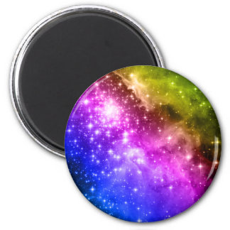 Estrellas del arco iris imán redondo 5 cm