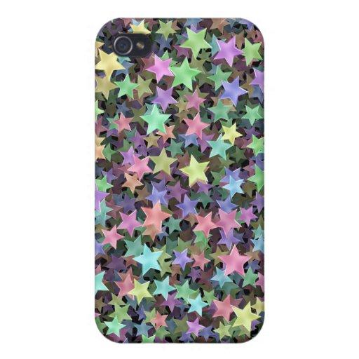 Estrellas del arco iris iPhone 4/4S funda