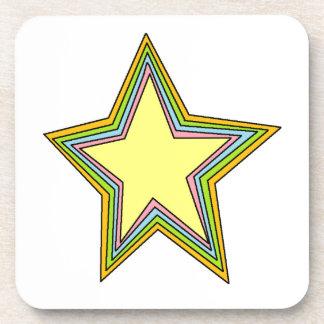 Estrellas del arco iris posavasos de bebidas