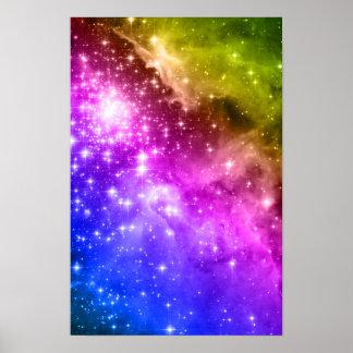 Estrellas del arco iris póster