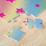 Estrellas del arco iris rompecabezas con fotos