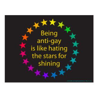 Estrellas del arco iris tarjeta postal
