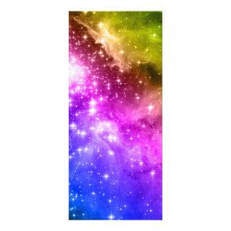 Estrellas del arco iris tarjetas publicitarias a todo color