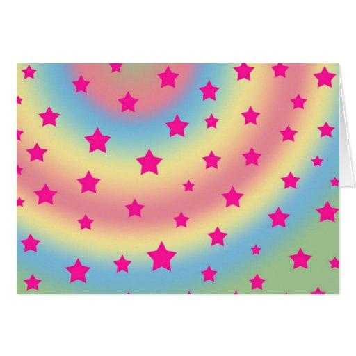 Estrellas del arco iris tarjeton