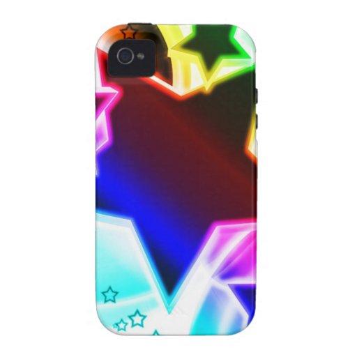 Estrellas del arco iris vibe iPhone 4 carcasas
