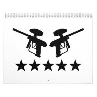 Estrellas del arma de Paintball Calendarios De Pared