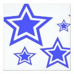 """Estrellas del azul y del blanco 5,25"""" x 5,25"""" invitación 5.25"""" x 5.25"""""""