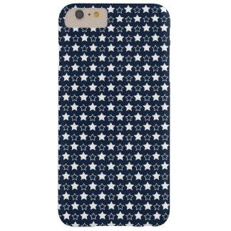 Estrellas del azul y del blanco funda para iPhone 6 plus barely there