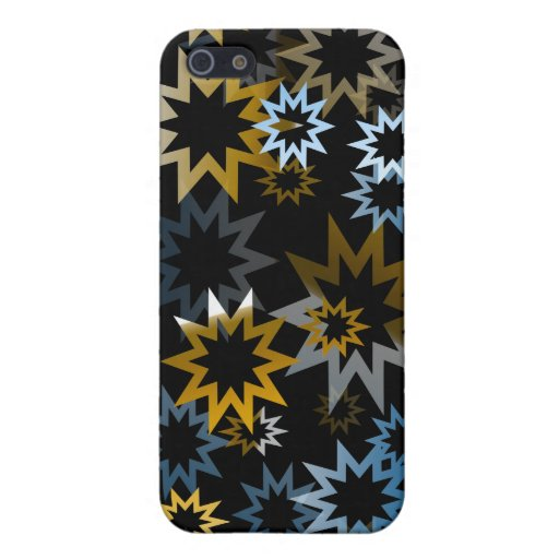 Estrellas del azul y del oro del cromo iPhone 5 cobertura