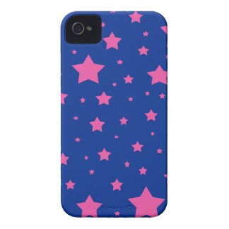 Estrellas del azul y del rosa Case-Mate iPhone 4 protectores