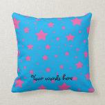 Estrellas del azul y del rosa de cielo almohada