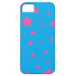 Estrellas del azul y del rosa de cielo iPhone 5 Case-Mate coberturas