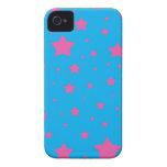 Estrellas del azul y del rosa de cielo iPhone 4 carcasas