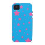 Estrellas del azul y del rosa de cielo iPhone 4/4S funda