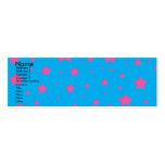 Estrellas del azul y del rosa de cielo plantillas de tarjetas personales
