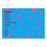 Estrellas del azul y del rosa de cielo tarjetas personales